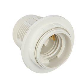 Патрон электрический, Е27, пластиковый с прижимным кольцом