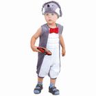 """Детский карнавальный костюм для мальчика от 1,5-3-х лет """"Ёжик"""", велюр, комбинезон, шапка"""