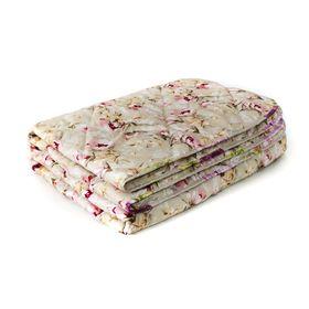 Одеяло Мягкий сон облегченое 140х205 см, Овечья шерсть 200г/м, микрофибра 70г/м, чехол МИКС,