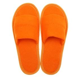 Тапочки махровые открытые, цвет персик, размер 39-41 Ош