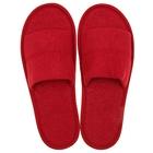 Тапочки махровые открытые, цвет бордо, размер 42-45