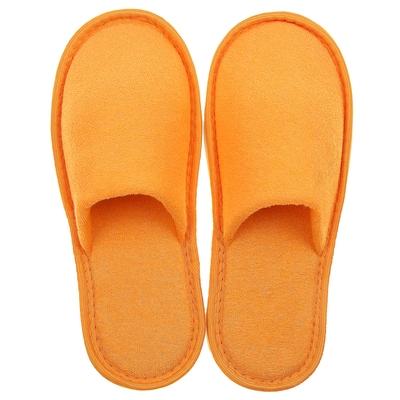 Тапочки махровые закрытые, цвет персик, размер 36-38