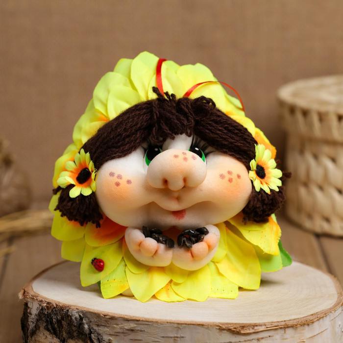 Сувенир кукла-попик «Подсолнух»
