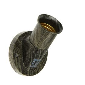 Патрон Ecola, Е27, 60 х 46 мм, цвет черненая бронза
