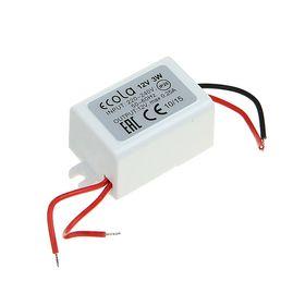 Блок питания Ecola для светодиодной ленты, 3 Вт, 220-12 В, IP20