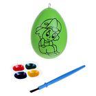 """Раскраска яйцо """"Мальчик в кепке"""" с красками 4 цвета, кисть"""