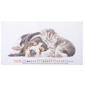 """Рисунок на канве """"Малыши"""", 24 × 47 см"""