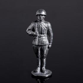 """Оловянный солдатик """"Рядовой в ватнике"""""""
