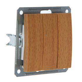 """Выключатель """"W59"""" SchE VS0516-351-8-86, 16 А,  3 клавиши, скрытый, цвет бук"""