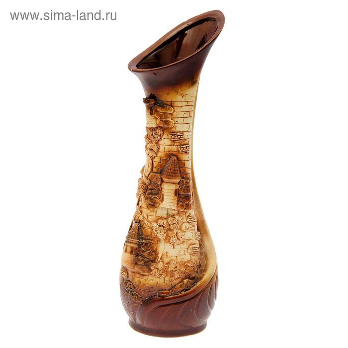 """Ваза напольная """"Лотос"""" коричневые замки"""