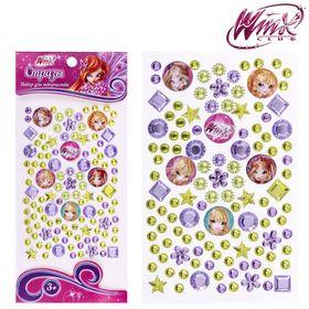 Набор для декорирования стразами, Феи ВИНКС: Блум, Стелла, Флора; фиолетовый, жёлтый Ош