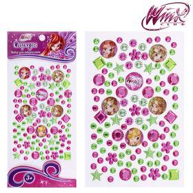 Набор для декорирования стразами, Феи ВИНКС: Блум, Стелла, Флора; розовый, зелёный Ош