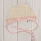 Чепчик детский, рост 68 см, цвет молочный/розовый E090001K68_М