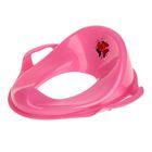 Детская накладка на унитаз с ручками, цвет розовый