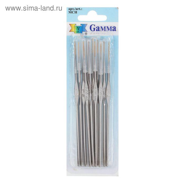 Крючки для вязания металлический, MCH, d=0,9мм, 12см, набор 12шт