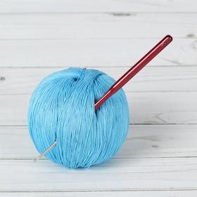 Крючок для вязания металлический, HP, с пластиковой ручкой, d=1,5мм, 14см Ош