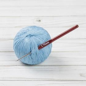 Крючок для вязания металлический, HP, с пластиковой ручкой, d=1,75мм, 14см Ош