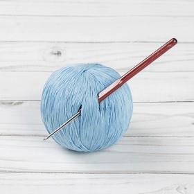 Крючок для вязания металлический, HP, с пластиковой ручкой, d=1,9мм, 14см Ош
