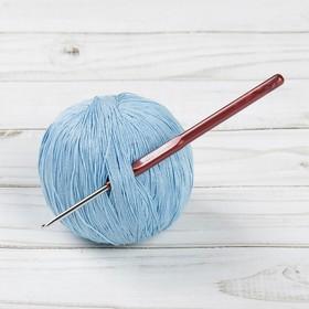 Крючок для вязания металлический, HP, с пластиковой ручкой, d=2,7мм, 14см Ош