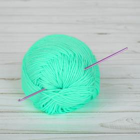 Крючок для вязания металлический, CH-15, d=2,5мм, 15см, цвет розовый Ош