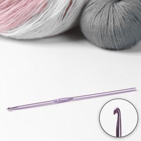 Крючок для вязания металлический, CH-15, d=3мм, 15см, цвет розовый Ош