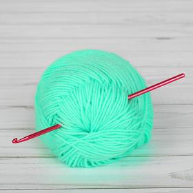 Крючок для вязания металлический, CH-15, d=3,5мм, 15см, цвет красный Ош