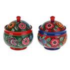 сувенирные сахарницы с городецкой росписью российских поставщиков