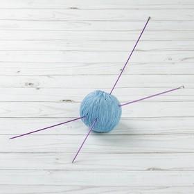 Спицы для вязания, CNK, прямые, с пластиковым наконечником, d=2мм, 35см, 2шт, цвет розовый Ош