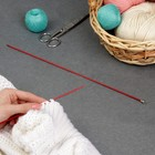 Спицы для вязания, CNK, прямые, с пластиковым наконечником, d=2,5мм, 35см, 2шт, цвет красный