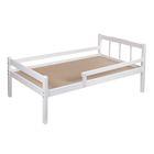 Детская кроватка «Малютка» из массива, с бортиком, цвет белый