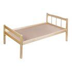 Детская кроватка «Стандарт» из массива, цвет берёза