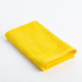 Салфетка махровая 'Экономь и Я' 30х30 см, цвет жёлтый, 100% хлопок, 340 г/м2 Ош