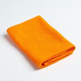Салфетка махровая 'Экономь и Я' 30*30 см оранжевый, 100% хлопок, 340 г/м2 Ош