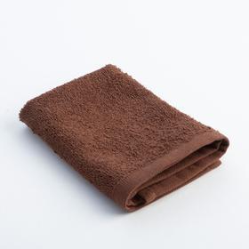 Салфетка махровая 'Экономь и Я' 30*30 см шоколад, 100% хлопок, 340 г/м2 Ош