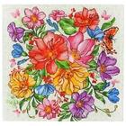 """Салфетка """"Доляна"""" Луговые цветы/вид 2, 30х30 см, рогожка 162 г/м2"""