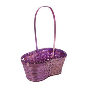 Корзина плетёная, бамбук, фиолетовая, с изгибом Ош
