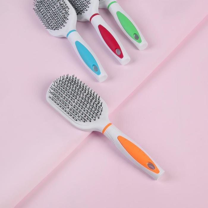 Расчёска массажная, вентилируемая, комбинированная, овальная, цвета МИКС