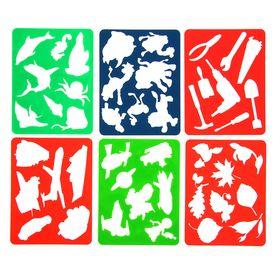 Набор трафаретов-раскрасок для мальчиков, 6 штук