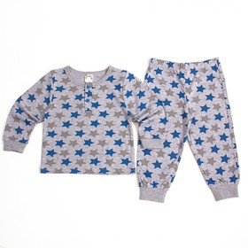 Пижама для мальчика, рост 80-86 см, цвет синий 302-AZ_М