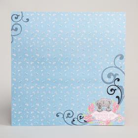 Бумага для скрапбукинга 'Прекрасный день', 30.5 x 30.5 см, 180 г/м² Ош