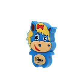 "Подарочная USB-флешка 8 Gb Mirex HORSE BLUE, ""лошадь"""
