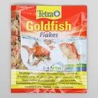 Корм для золотых рыб Goldfish хлопья, пакет 12 г
