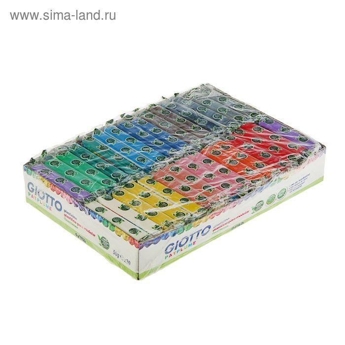 Пластилин мягкий 15 цветов*50г GIOTTO Patplume (30 штук) (пищевые красители) 512000