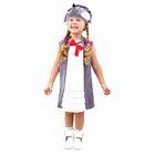 "Детский карнавальный костюм ""Ёжик с кармашками"", велюр, сарафан, шапка, 1,5-3 года"