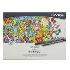 Фломастер для оформления набор 20 цветов LYRA Hi-Quality Art Pen в металлической коробке L6751200