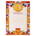 Грамота «1 место. Российская символика с лавром»