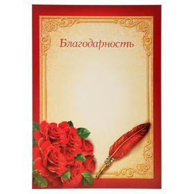 Благодарность «Цветы»