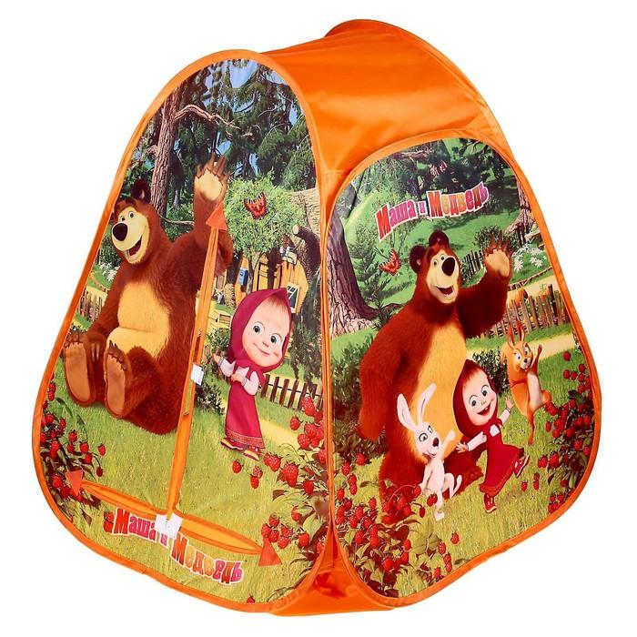 """Детская палатка """"Маша и Медведь"""" 81*91*81см в сумке GFA-MB01-R"""