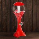 """Башня пивная 3 л """"Шар"""", цвет красный"""