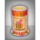 """Свеча мигающая """"С Днем Рождения"""" ароматизированная, ваниль, подарок"""